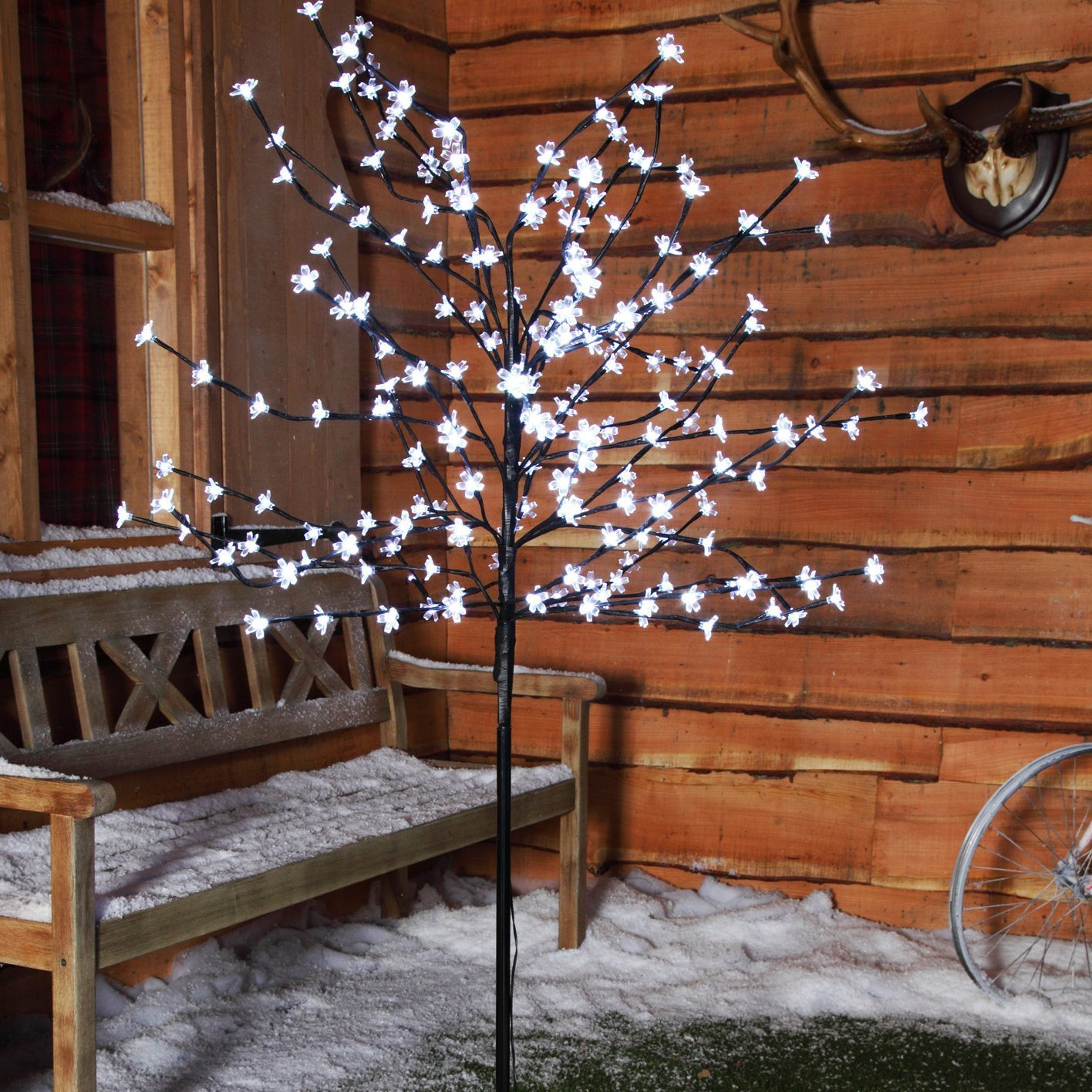 1.8m (6ft) 200 LED Cherry Blossom Tree by Noma - Bright White