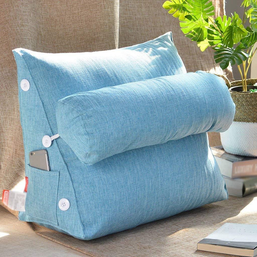 クッション| 2018新しい純粋な色の綿とリネン洗えるアメリカの枕のベッド背もたれソファの枕オフィスのウエストのサポート ファッション z B07F6W2CHB 58センチメートル|3# 3# 58センチメートル