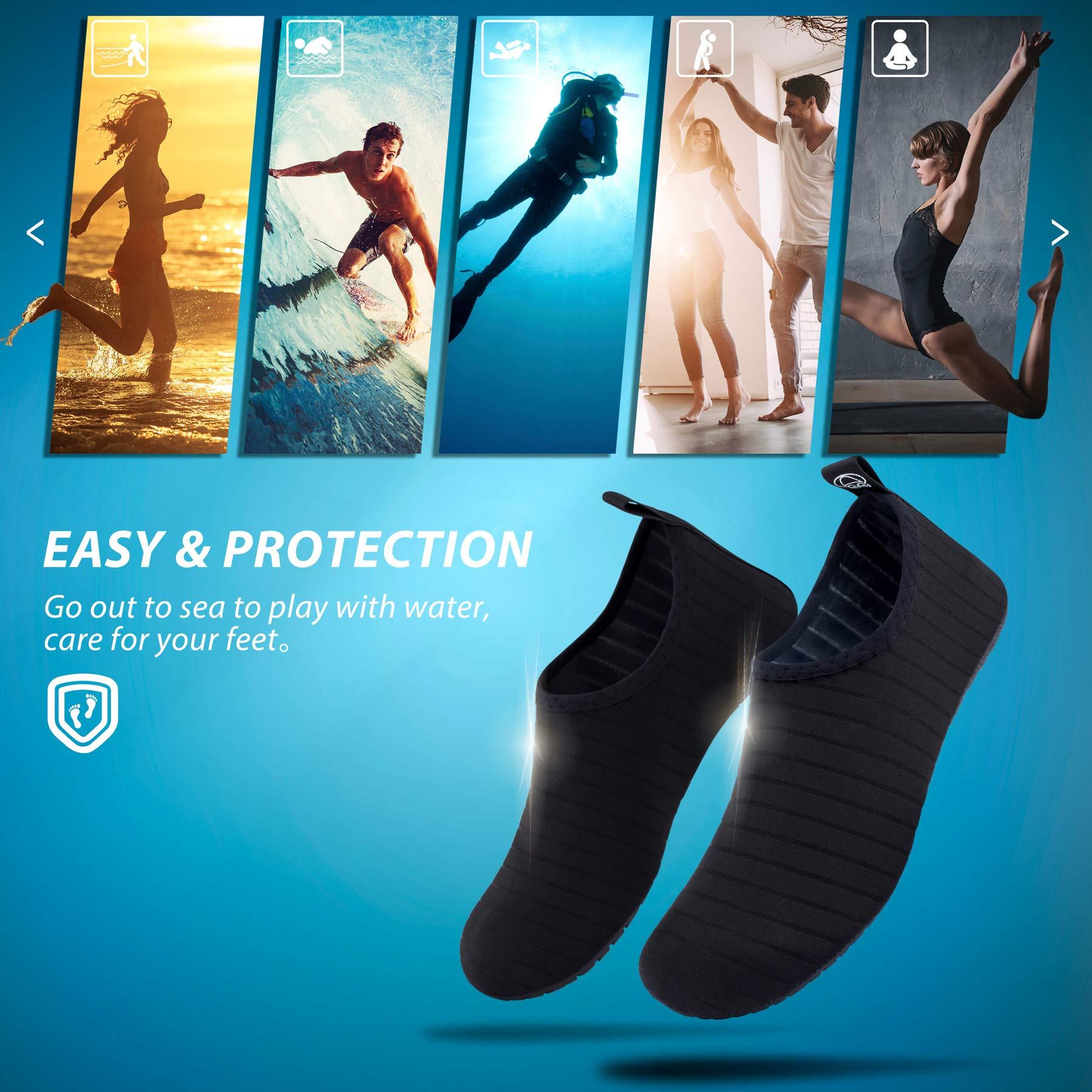Water Shoes Aqua Socks for Women Men by SIMARI (Image #6)