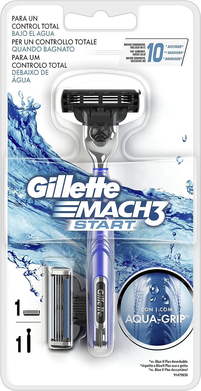 Gillette Mach3 Start Maquinilla con Mango Aqua-Grip: Amazon.es ...