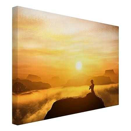 Bilderwelten Cuadro en Lienzo - Yoga Meditation - Apaisado 3 ...