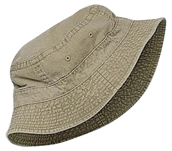 df6ce2131 Cameo Kids' Youth Pigment Dyed Bucket Hat, Khaki 55 cm