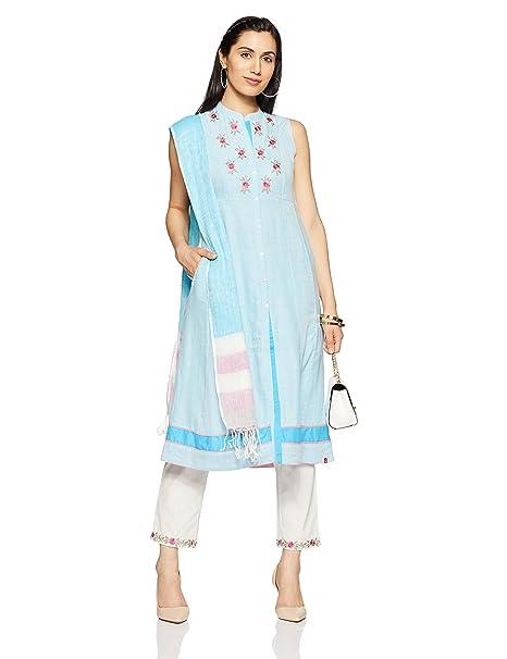 1d3bb2e2e54 BIBA Women s Angrakha Salwar Suit  Amazon.in  Clothing   Accessories