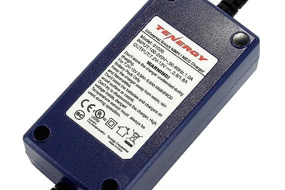 amazon com tenergy smart universal charger for nimh nicd battery