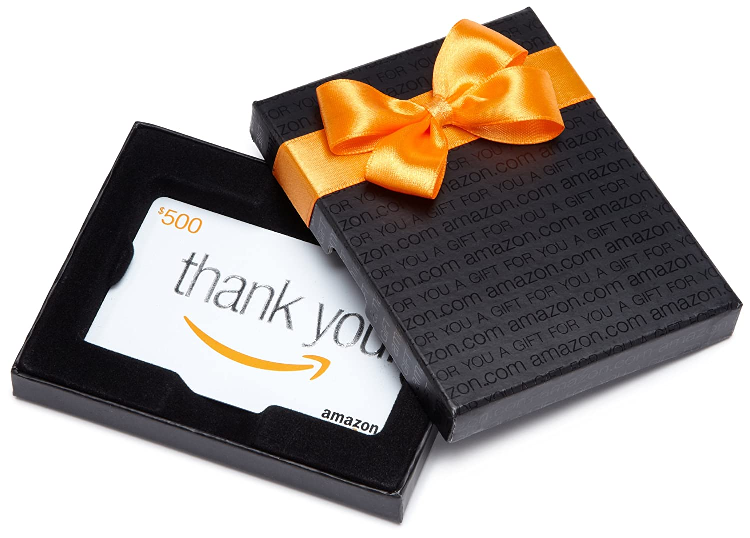 Amazon.com Gift Card in a Black Gift Box (Thank You Card Design)