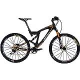 BEIOU Carbon Dual Suspension Mountain Bicycles All Terrain 27.5 Inch MTB 650B Bike SHIMANO DEORE 10 Speed 12.7kg T700 Frame Matte 3K CB22