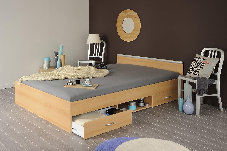4375758393 Parisot Bett weiß Andy (140 x 200 cm): Amazon.de: Küche & Haushalt