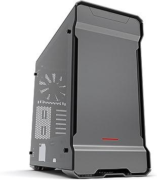 Phanteks PH-ES515ETG_AG Carcasa de Ordenador Midi-Tower Gris - Caja de Ordenador (Midi-Tower, PC, Aluminio, Acero, Gris, ATX,EATX,Micro ATX,Mini-ITX, Rojo): Amazon.es: Informática