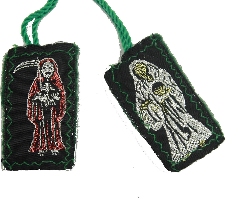 Santa Muerte Escapulario De Hilo-Knotted Grim Reaper Angel of Death Scapular
