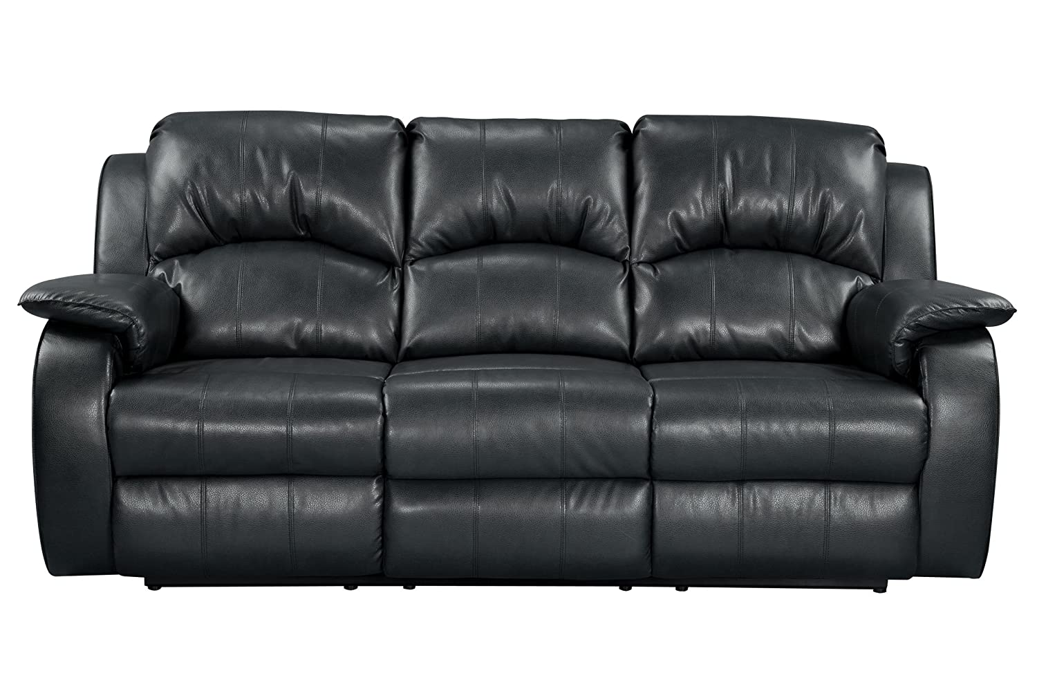Amazon Com Tahoe Bonded Leather Reclining Sofa Kitchen Dining