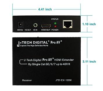 Amazon j tech digital hdmi extender over tcpip ethernetover j tech digital hdmi extender over tcpip ethernetover single cat5e sciox Images