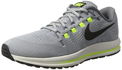 cf9df96335f02 Nike Men s Air Zoom Vomero 12 Grey Blk-Pure Plat Running Shoes-8 UK ...