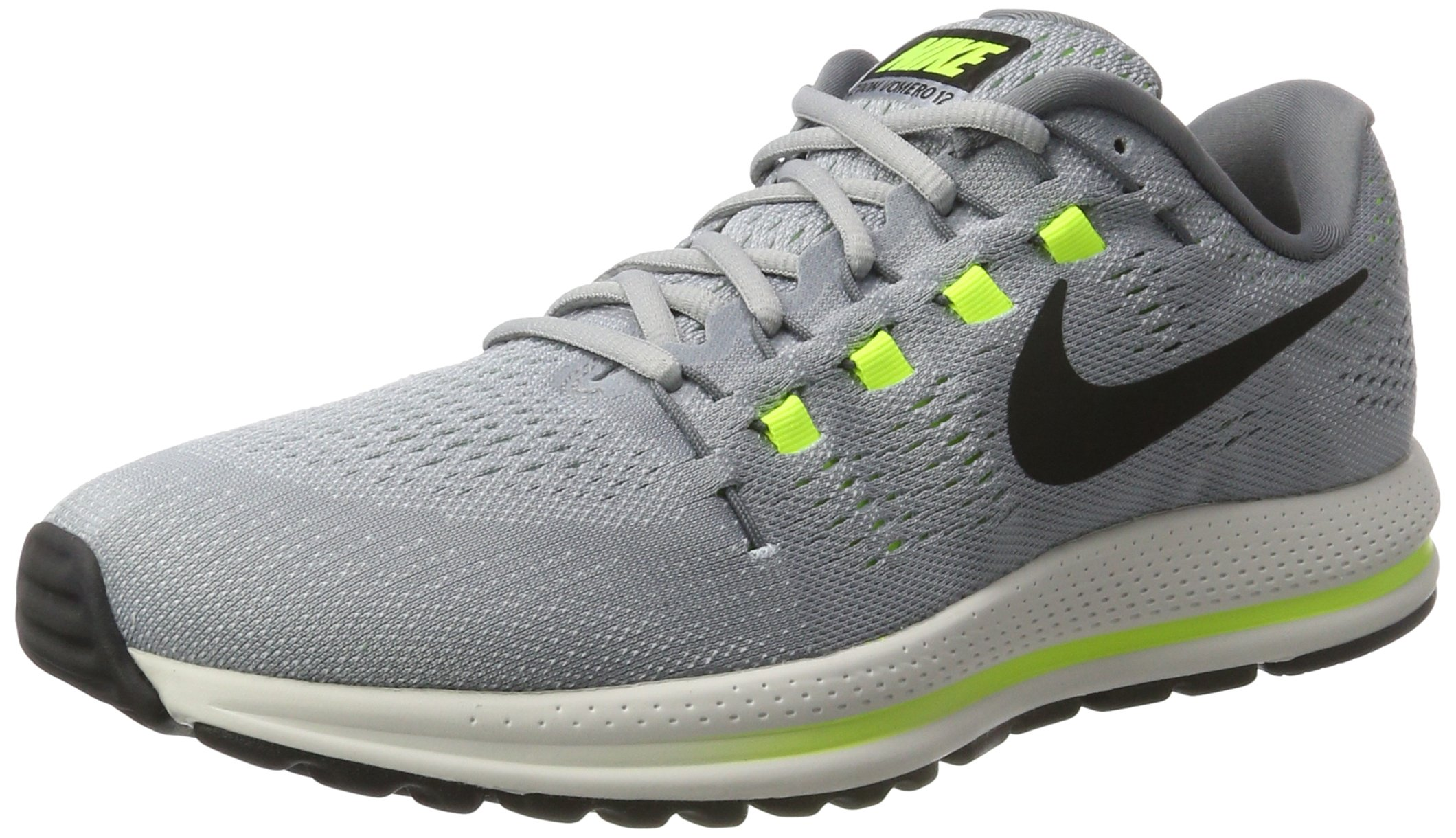 Galleon - Nike Men s Air Zoom Vomero 12 Running Shoes Wolf Grey Black  863762 002 Size 7 D(M) US 622103610