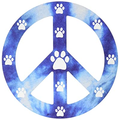 Imagine This 4-3/4-Inch by 4-3/4-Inch Peace Sign Car Magnet, Blue: Pet Supplies