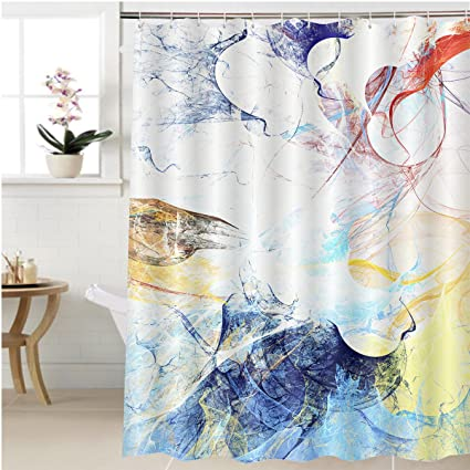 Gzhihine Shower Curtain Multicolored Splash Abstract Beautiful Soft Color  Background Dynamic Painting Texture Modern Bathroom Accessories