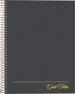 Ampad Gold Fibre Designer, Project Planner,Size 9-1/2 x 7-1/4, Asst Covers, 84 Sheets per Notebook (20-817),White
