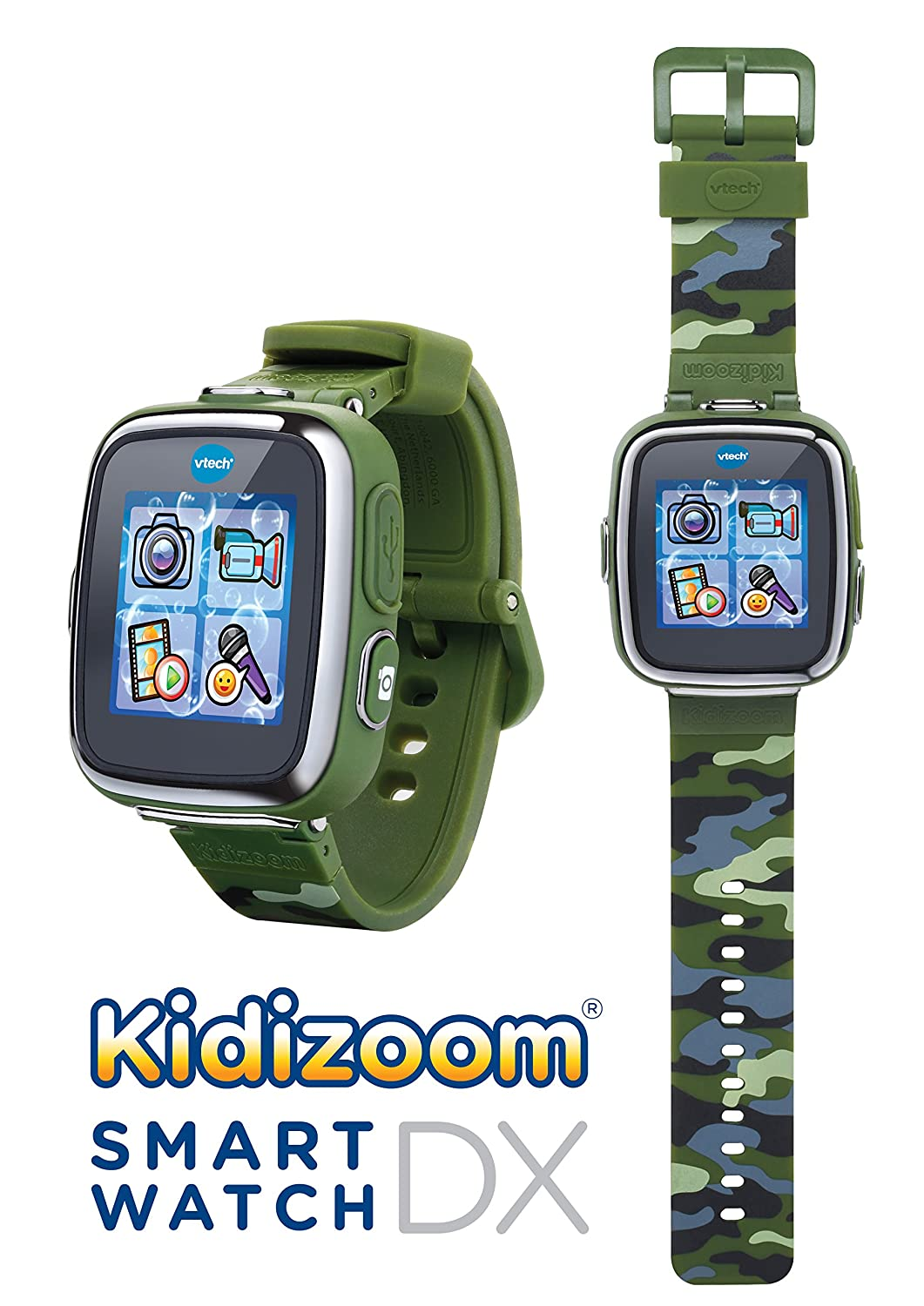 VTech- Reloj multifunción Kidizoom Smart Watch DX, Color Camuflaje (80-171677)