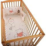 Disney Parure de lit pour bébé Motif Winnie l'ourson Blanc