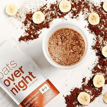Oats Overnight (3 onzas por paquete) de alto valor proteico,bajo ...