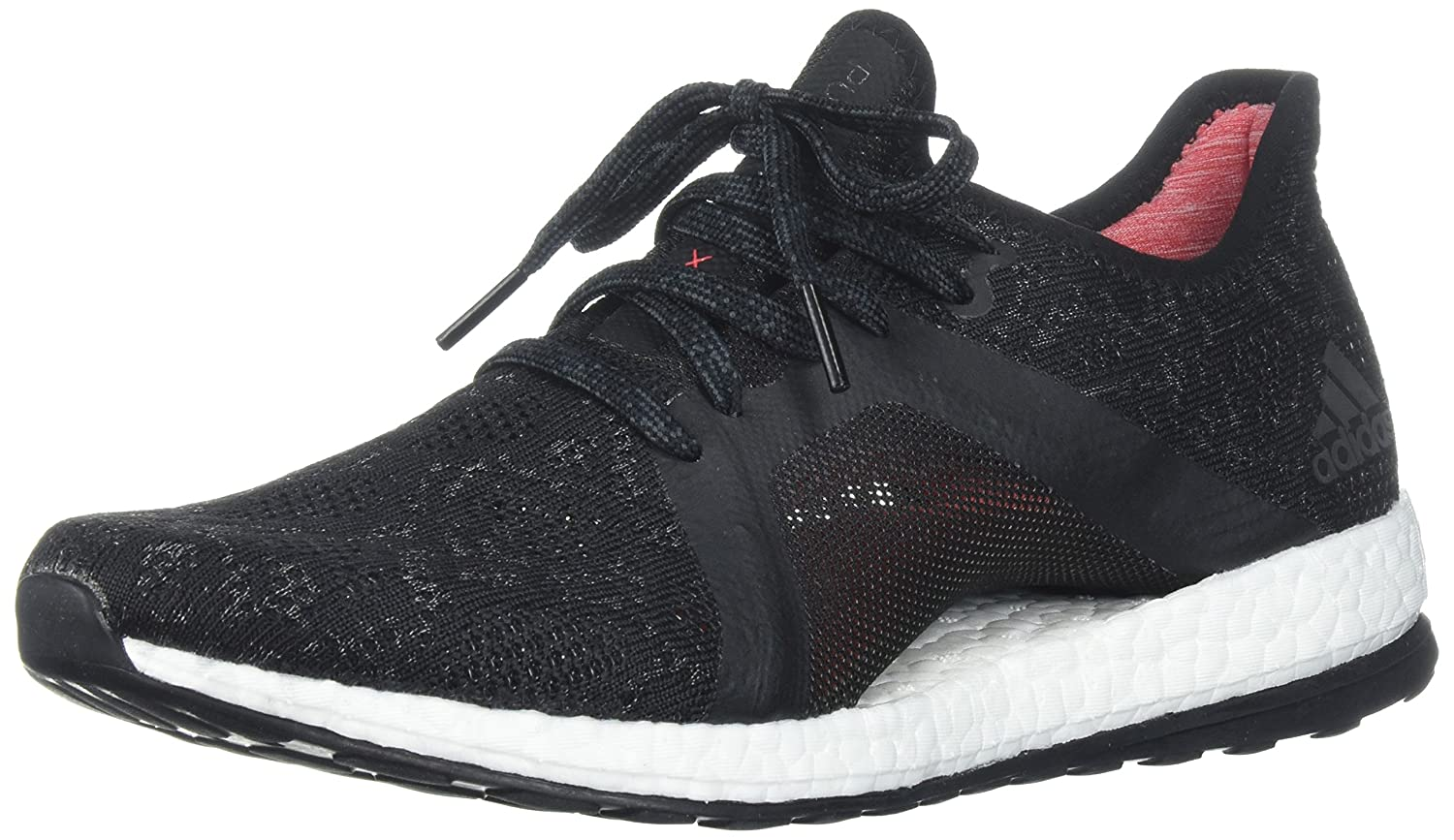 adidas Women's Pureboost X Element Running Shoe B072BVQC2R 6.5 B(M) US|Grey Five/Core Black/Real Coral