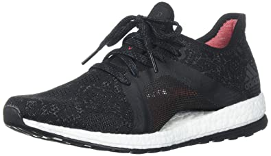 Adidas Womens Pureboost X Element Running Shoe Grey Five Core Black Real  Coral