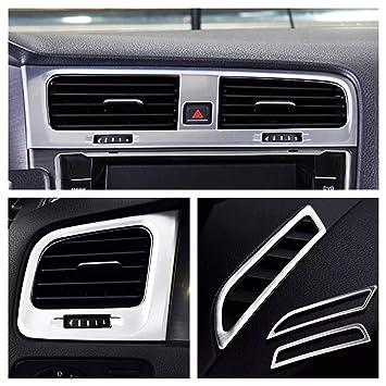 Emblema Trading Volante Marco embellecedor Medio Consola salpicadero Envuelto acero inoxidable Auto accesorios: Amazon.es: Coche y moto