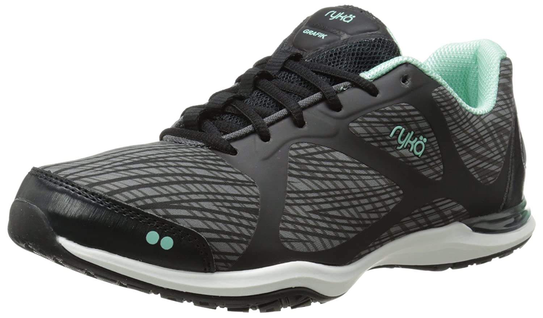 Ryka Women's Grafik Cross-Training Shoe B00MG0OZ94 9 B(M) US|Black/Grey/Mint