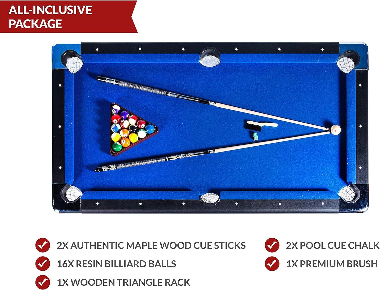 Rack Vega Mesa de Billar Plegable de 6 pies, Incluye Juego Completo de Accesorios: Amazon.es: Deportes y aire libre