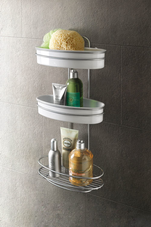 Metaltex Orbit Estante baño 3 Pisos, Chrometherm, Plata y Blanco: Amazon.es: Hogar