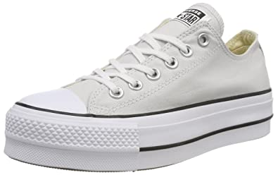 Converse Damen CTAS Lift Ox Mouse/White/Black Sneaker: Amazon.de ...
