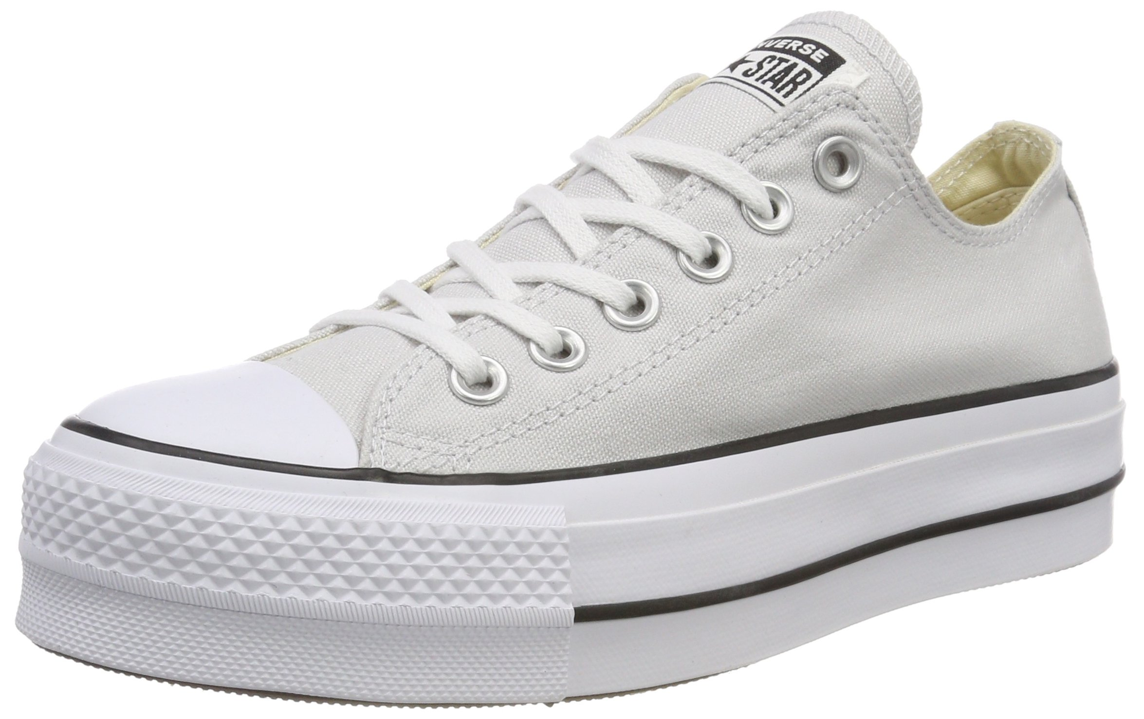 c584062225f48a Galleon - Converse Women s CTAS Lift OX Mouse White Black Trainers ...