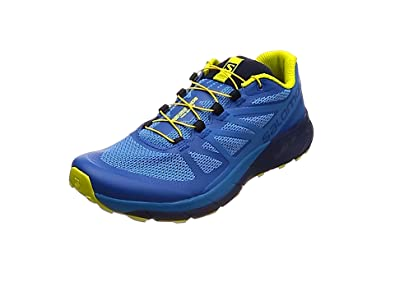 Salomon Sense Ride, Chaussures de Trail Homme, Bleu (Snorkel Blue/Indigo Bunting/Sulphur 000), 46 EU
