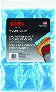 Thermos 9 Cube Reusable Ice Mat, 9 Cube, Silver