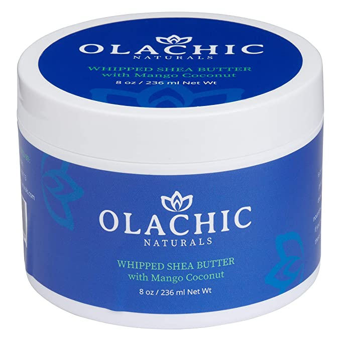 OlaChic Naturals Whipped Body Shea Butter with Mango Coconut| Moisturizing Skin Cream that Nourishes & Softens the Entire Body | Shea Butter Lotion| Mango Shea Butter -8oz