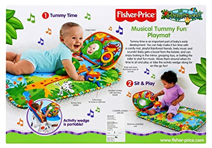 Amazon.com: Fisher-Price 90EHI29 Rainforest Tummy Time ...