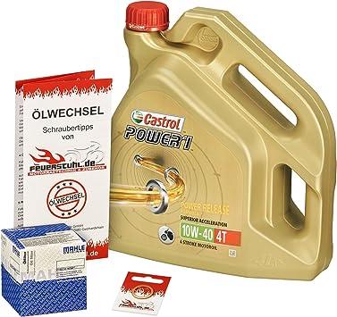 Castrol 10w 40 Öl Mahle Ölfilter Für Suzuki Gsf 1200 Bandit S Gv75a A9 Cb Ölwechselset Inkl Motoröl Filter Dichtring Auto