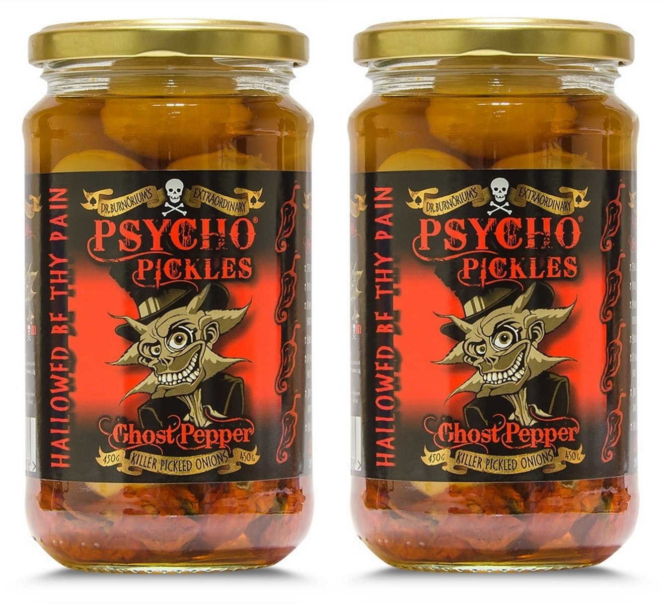 Psycho Onions - Ghost Pepper Pickled Onions x 2 Jars