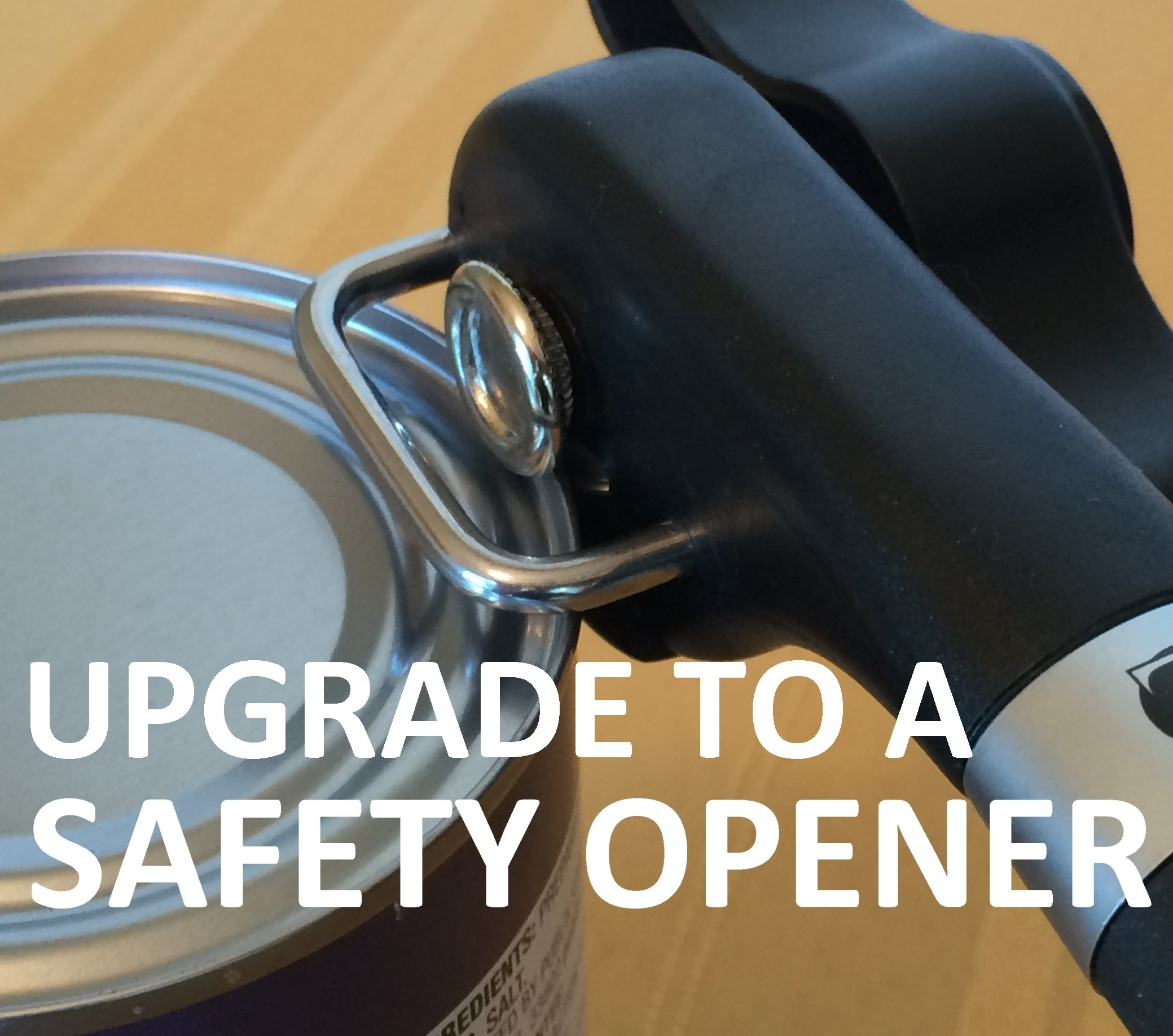Hand Held Safety Manual Can Opener by Zulu Quality - Made of Dishwasher Safe Stainless Steel and Silicone - Side Cut Action Leaves Smooth Edge and Replaceable Lid by Zulu Quality (Image #6)