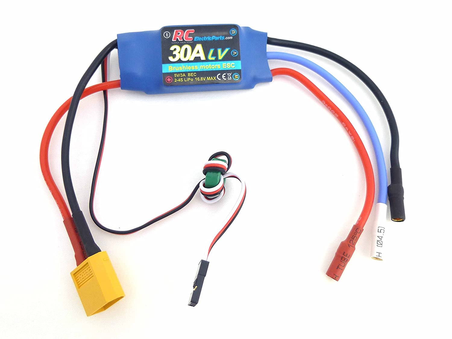 30A RC Brushless Motor Electric Speed Controller ESC 3A UBEC with XT60 &  3 5mm bullet plugs