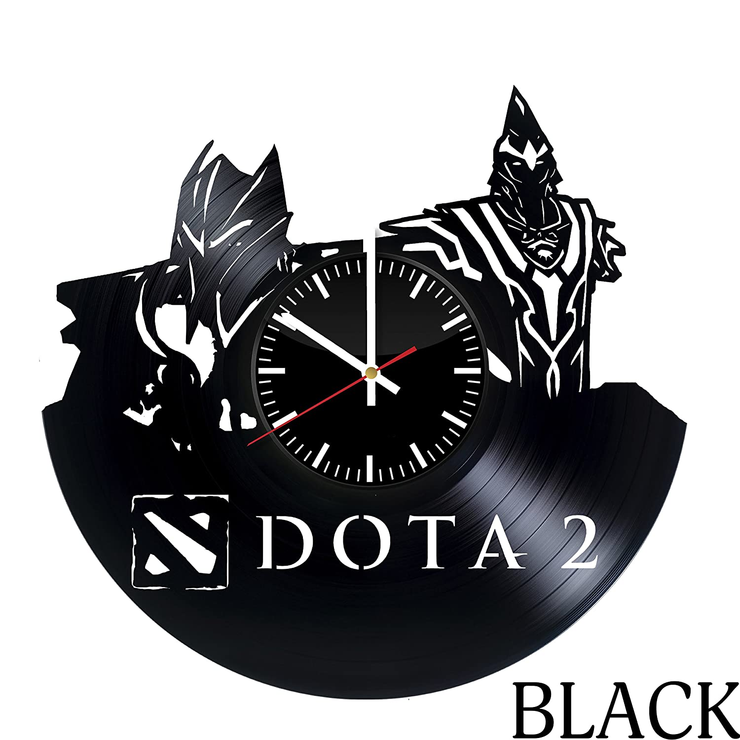 Amazon dota 2 game vinyl record wall clock get unique home amazon dota 2 game vinyl record wall clock get unique home wall decor gift ideas for men boys teens and adult unique video game art design amipublicfo Images