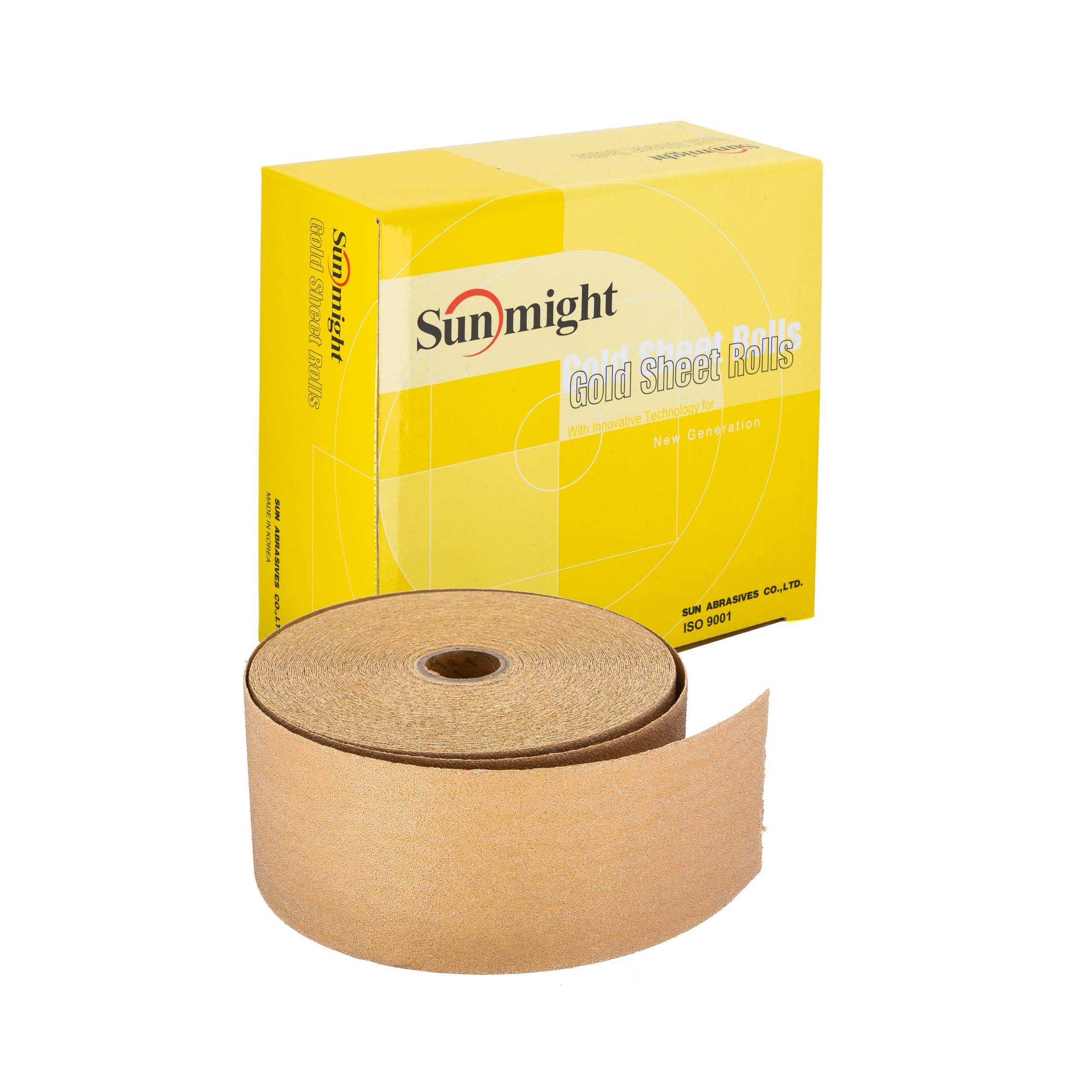 Sunmight 06116 1 Pack 2-3/4'' X 45 yd PSA Sheet Roll (Gold Grit 400) by Sunmight