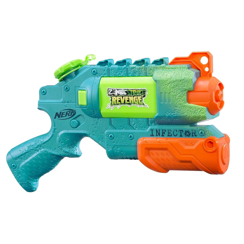 Nerf Infector 0.354L Pistola de Agua - Pistolas de Agua (0,354 L, Pistola de Agua, Integrado, 11 m, Verde, Naranja, 6 año(s))