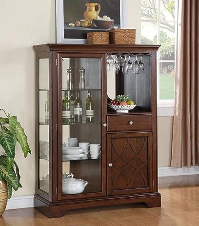 Amazon.com: Standard Furniture Woodmont Curio Cabinet: Kitchen ...
