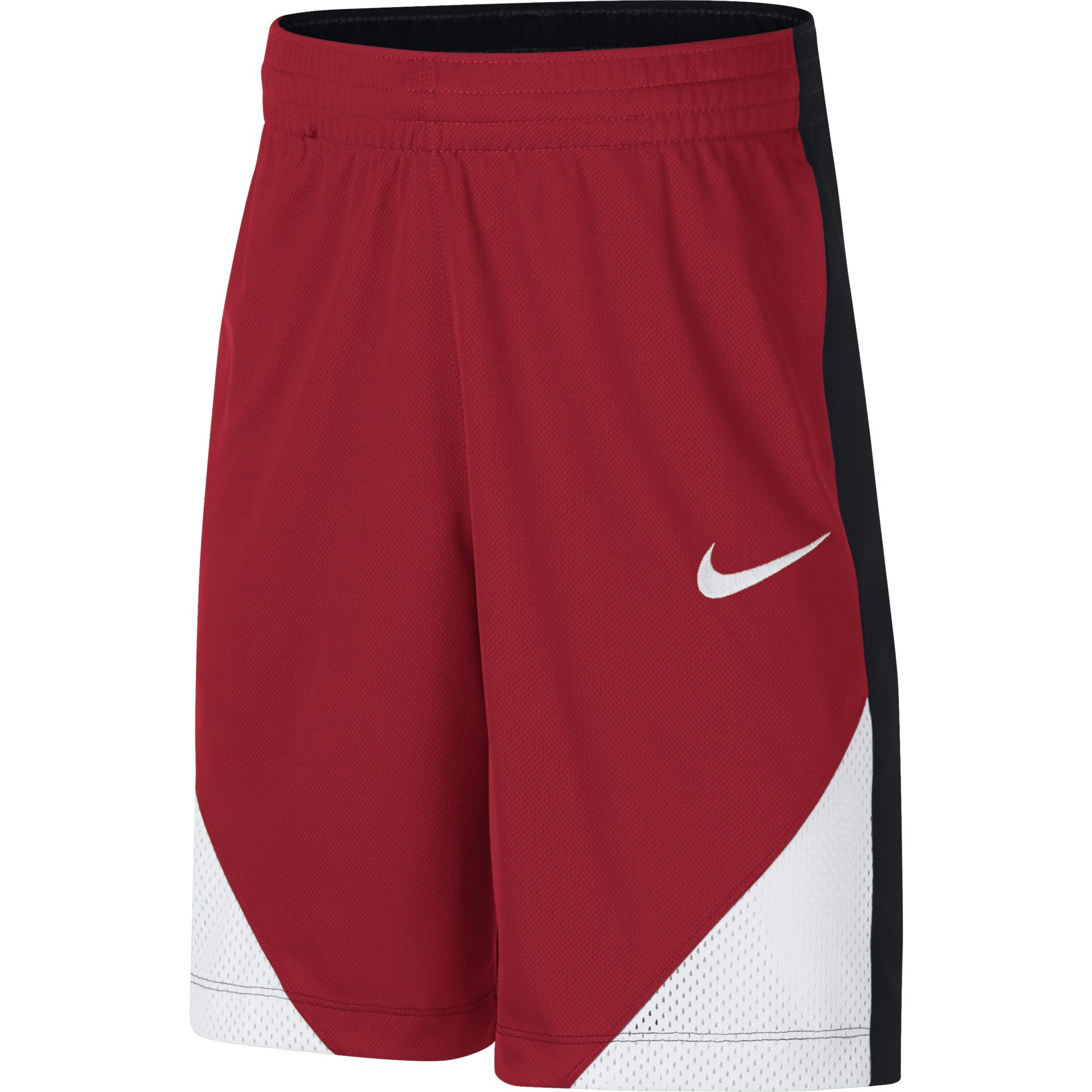 NIKE Boys' Assist Basketball Shorts, University Red/Black/White/White, X-Large