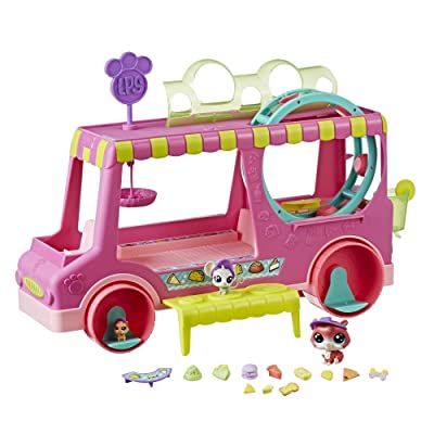 Littlest Pet Shop Tr'eats Truck Playset Toy, Rolling Wheels, Adult Assembly Required (No Tools Needed), Ages 4 and Up: Toys & Games