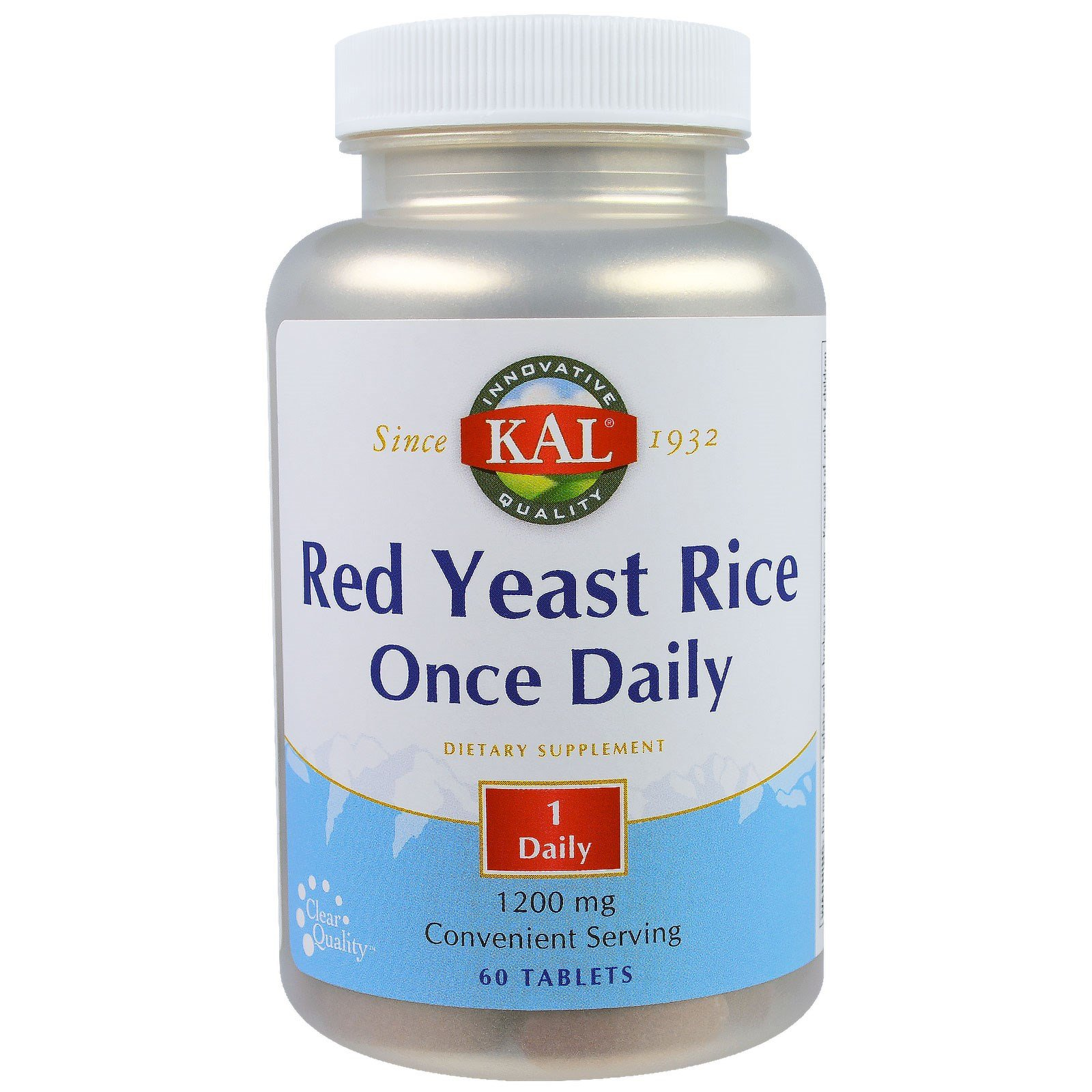 KAL, Red Yeast Rice, Once Daily, 1200 mg, 60 Tablets(Pack of 3)