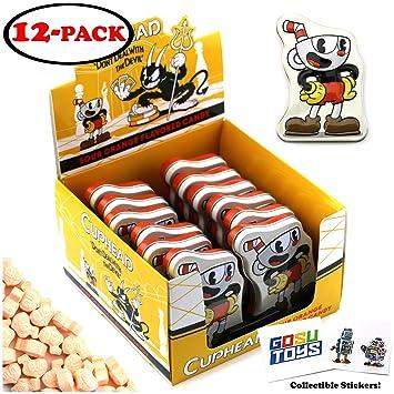 Amazon com : CupHead Tin Candy Sours (12 Pack Case) Orange Flavor