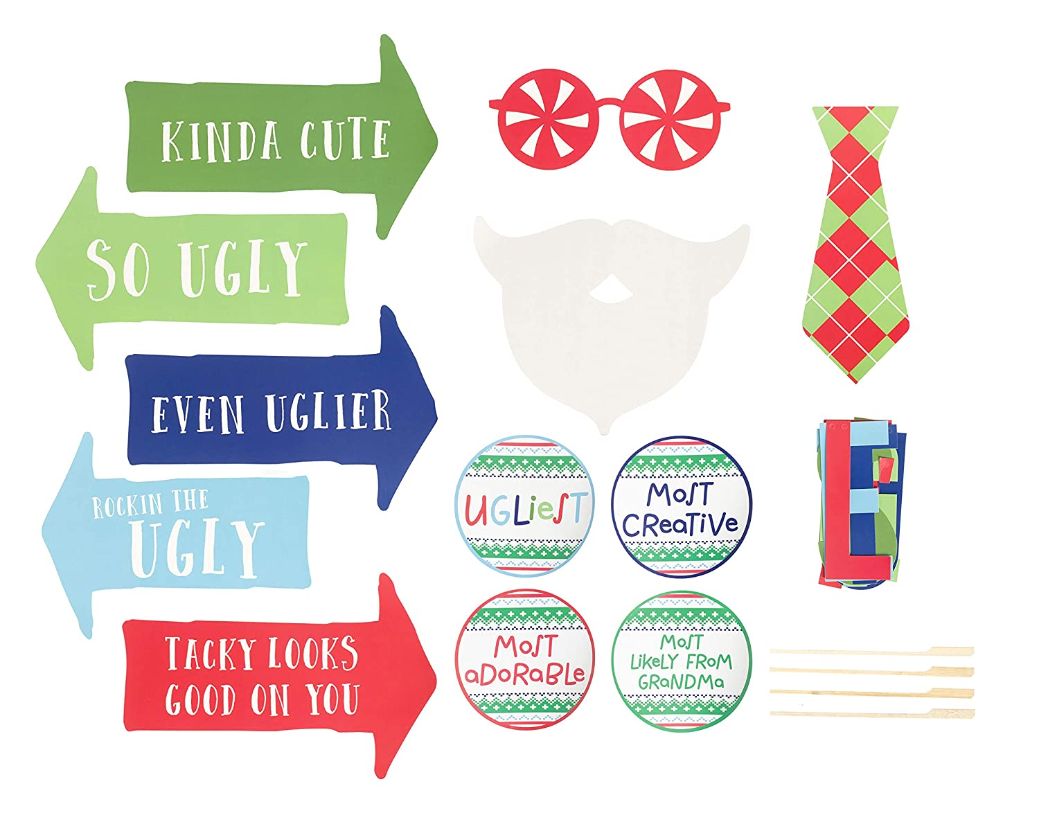 Everything You Need to Set Up Your Own Kissing Photo Booth Sticker Sheet Includes Felt Mistletoe Meet Me Under the Mistletoe Banner Pearhead Holiday Mistletoe Kissing Booth and 15 Photo Props