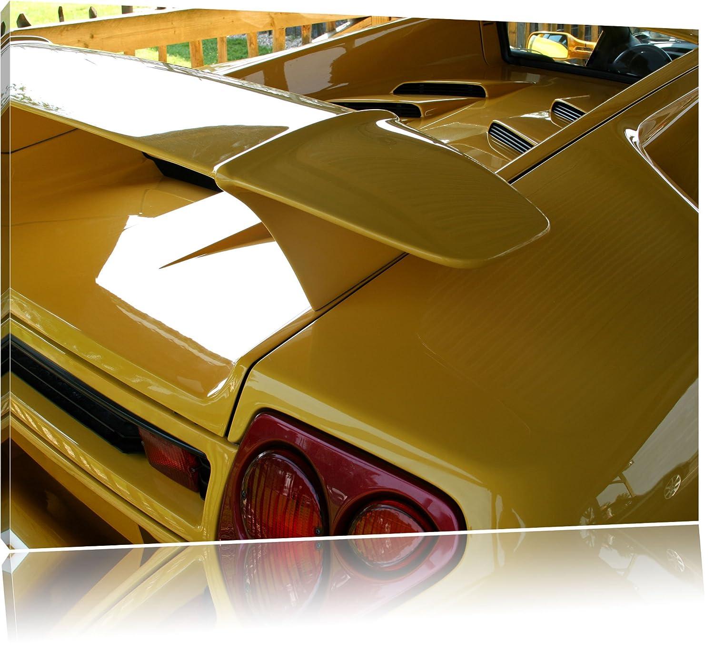 Yellow Lamborghini Gallardo black and white image on canvas, XXL ...