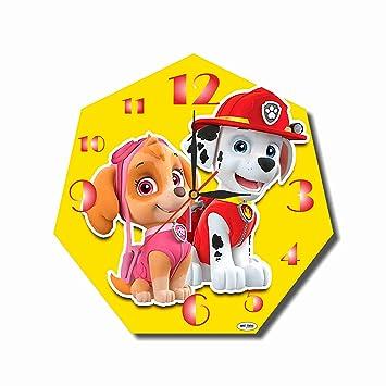Reloj de pared hecho a mano de la Patrulla Canina de 29,94 cm (cristal acrílico), ...